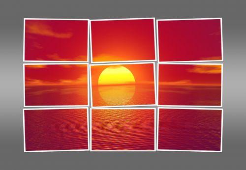sunset polaroid photograph
