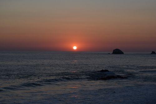sunset beach sun