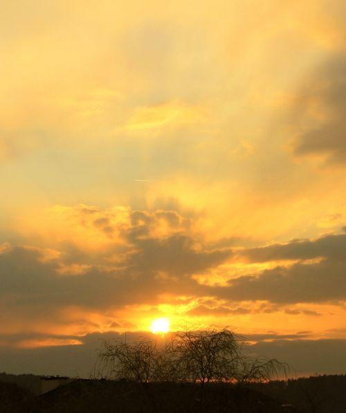 sunset abendstimmung sunbeam