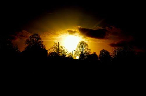 saulėlydis, fonas, gamta, vakaras, raudona, lengvas & nbsp, efektas, saulėlydis