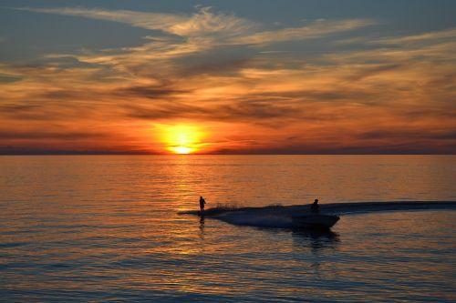 sunset twilight sea