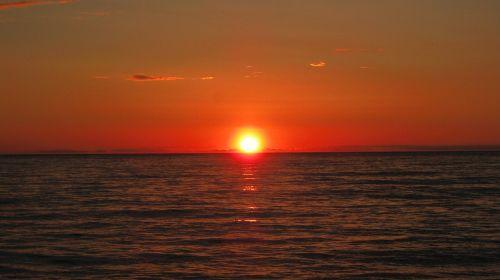 sunset sea sardinia