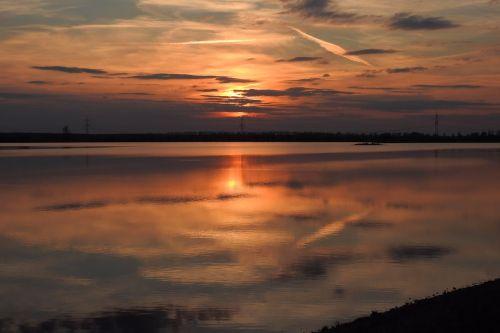 sunset abendstimmung afterglow
