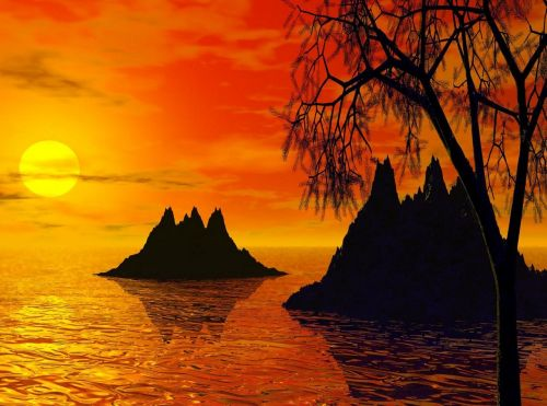 sunset sunset islands island