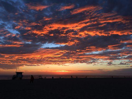 sunset burning sky burning clouds