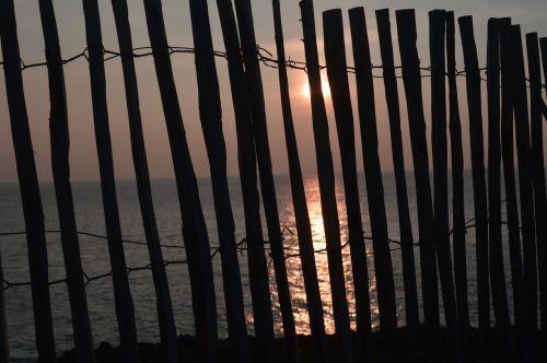 sunset sun sea