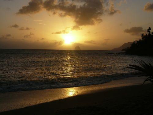 sunset sky beach