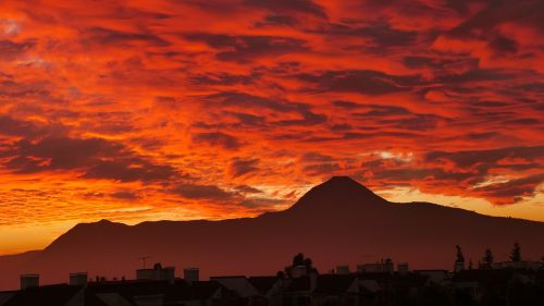 sunset clouds santiago