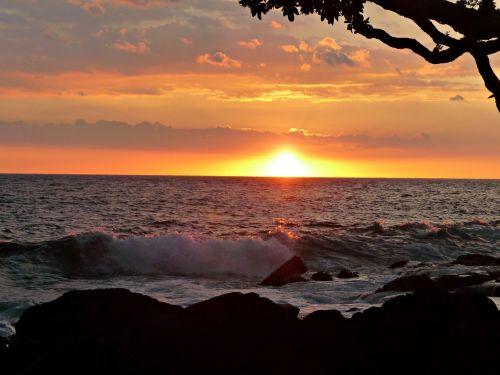 sunset hawaii photographic background