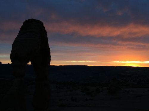 sunset moab desert