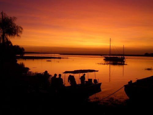 sunset bolivia pantanal
