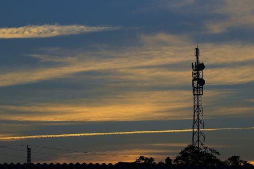 sunset mast television mast