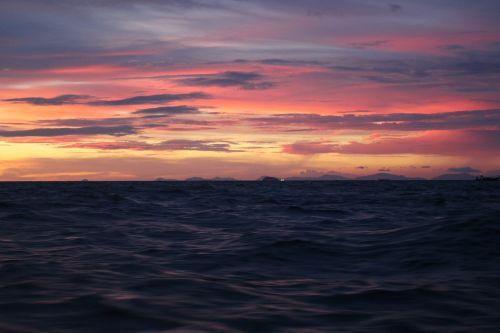 sunset sea thailand