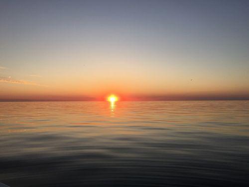 sunset lake sun water sun set