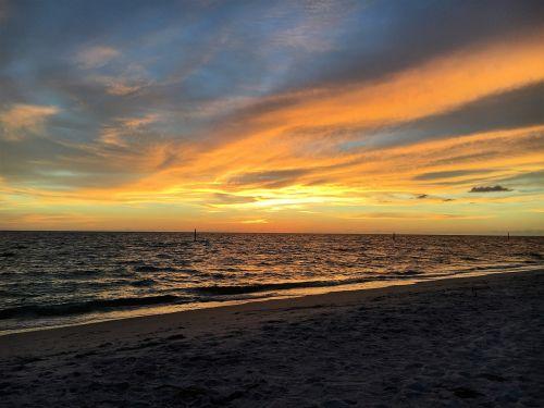 sunset beach colors