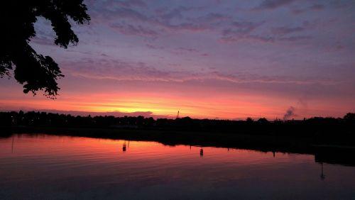 sunset sky afterglow