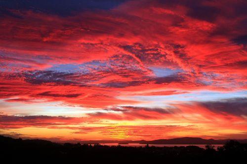 sunset landscape nelson bay