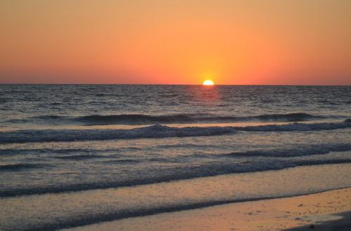 sunset beach sky