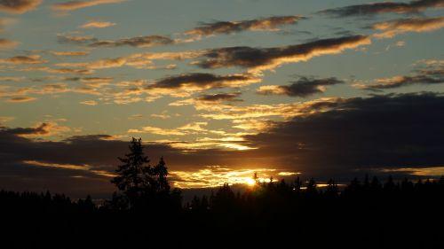 sunset twilight evening