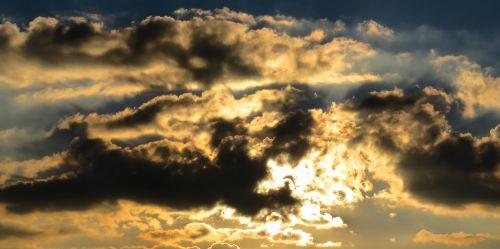 sunset evening sun cloud
