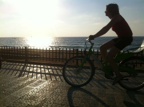 sunset bike sky