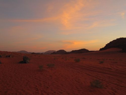 sunset desert middle east