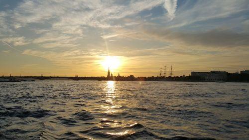sunset st petersburg russia