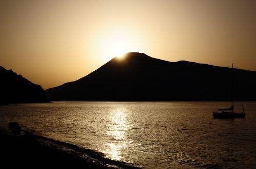 sunset lipari sicily
