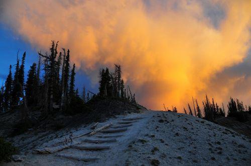 sunset scenic landscape