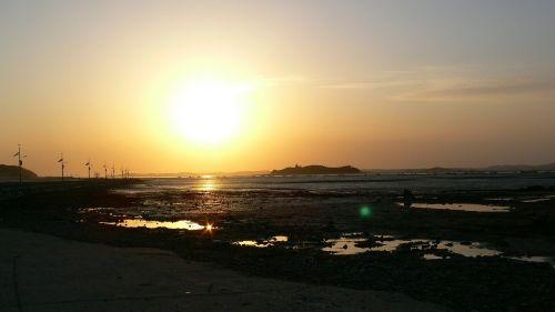 sunset sun ocean