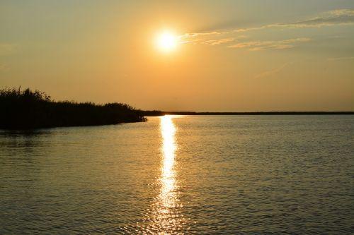 sunset delta danube
