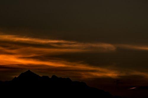 sunset landscapes mountains