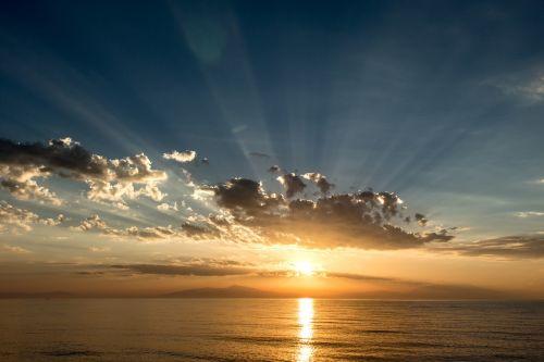 sunset greece halkidiki