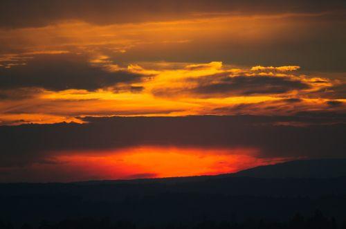 sunset cloud afterglow