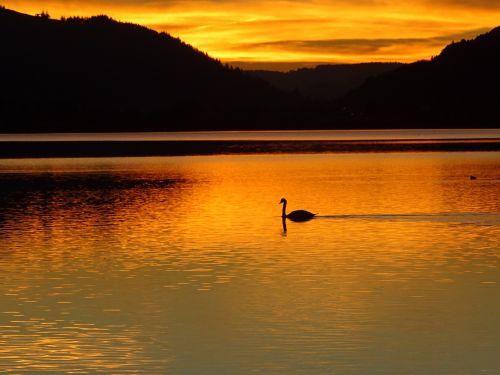 sunset afterglow abendstimmung