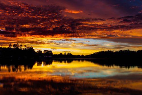 sunset canada nature