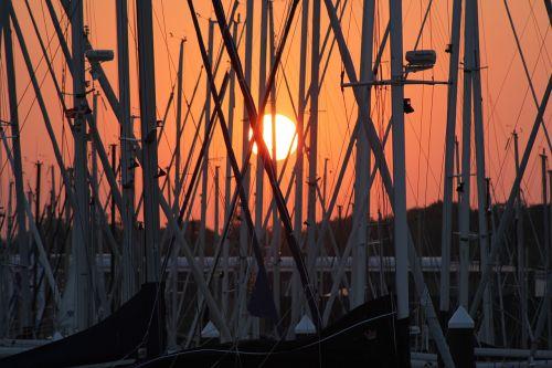 sunset baltic sea afterglow