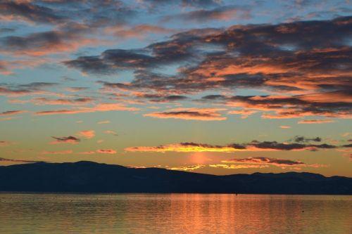 sunset golden sunset clouds