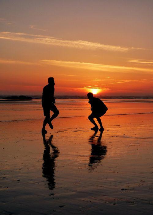 sunset happy dance