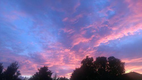 sunset clouds sky