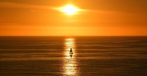saulėlydis,Kalifornija,kranto,burinė valtis,saulė,horizontas,dusk,valtis,valtis saulėje
