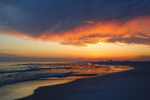 sunset coastline beach