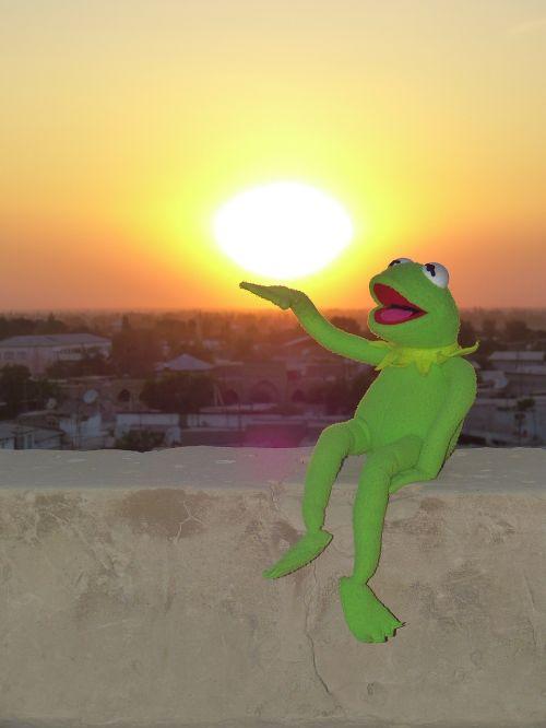 sunset sun yellow