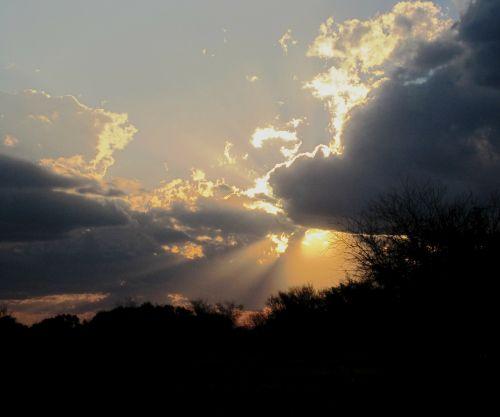 sunset cloud white