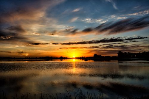 sunset laguna landscape