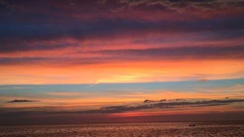 sunset lake beach