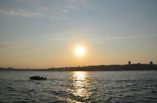sunset istanbul bosphorus