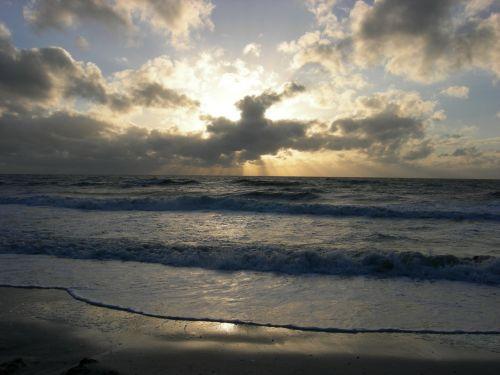 sunset ocean sun