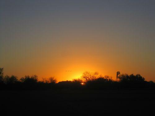 sunset sun horizon