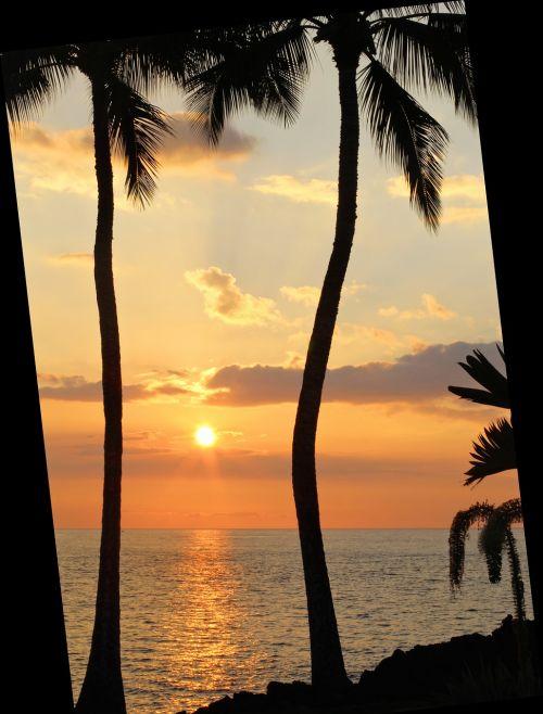 sunset hawaii hawaiian sunset